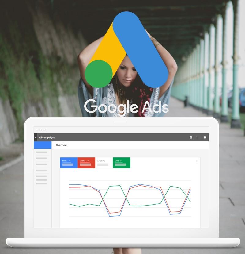 Lady-Google-ads