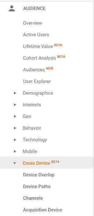 کراس دیوایس در گوگل آنالیتیکس