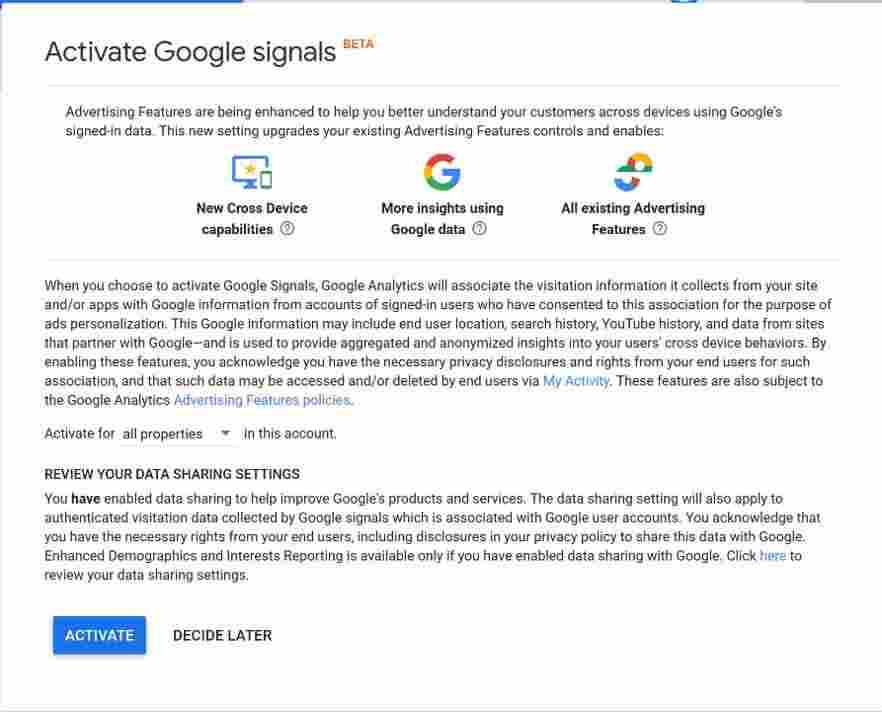 فعال سازی-گوگل سیگنال