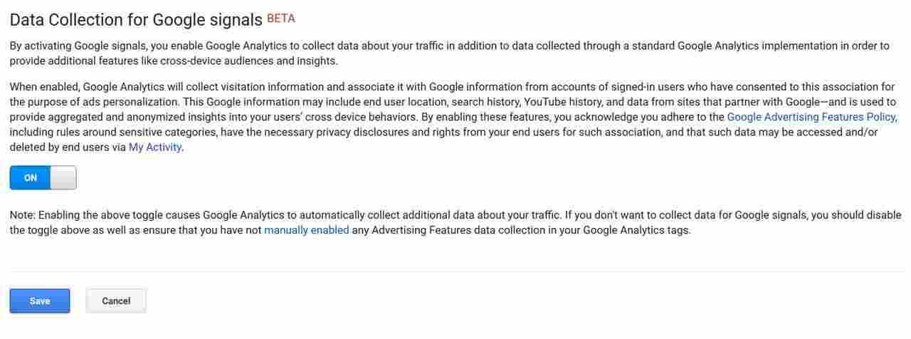 ذخیره و فعال سازی گوگل سیگنال